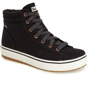 Keds Black Hi Rise Canvas High-Top Shoes